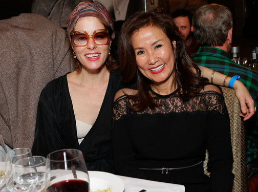 Tiffany Rose Parker Posey and Mimi Kim share a laugh during ChefDance 2017 sponsored by GiftedTaste, Park City, Utah