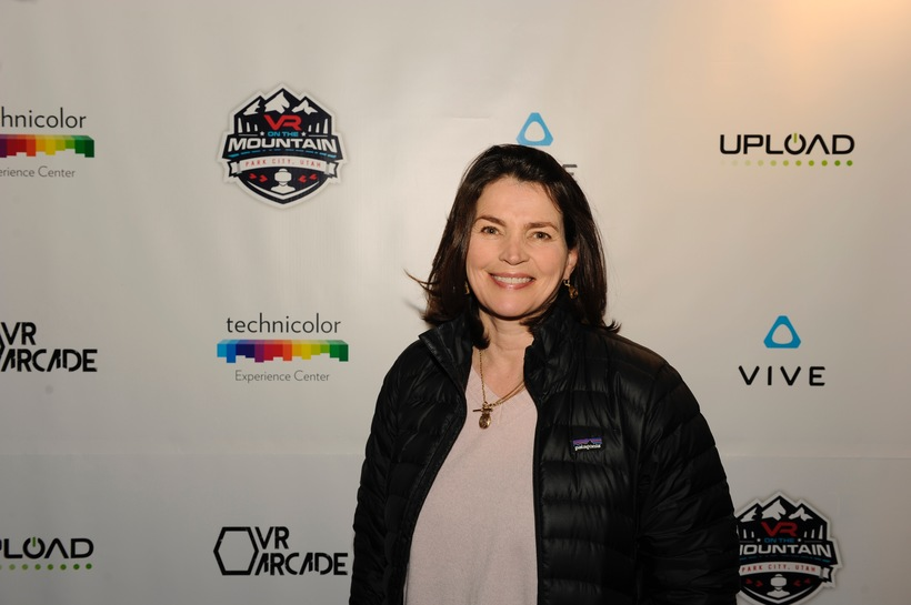 Julia Ormond attends VR ON THE MOUNTAIN during Sundance Film Festival.