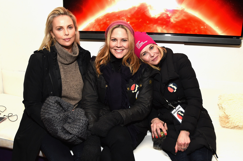 MICHAEL KOVAC/GETTY IMAGES FOR PARK CITY LIVE Charlize Theron, Mary McCormack, and Chelsea Handler attend Park City Live Presents The Hub Featuring The Marie Claire Studio and the 4K ULTRA HD Showcase Brought to You by the Consumer Technology Association