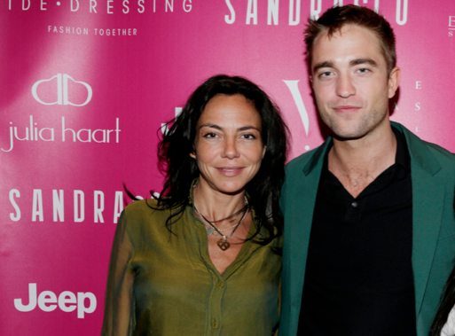 Sandra & Co Suite. Sandra Zeitoun De Matteis with Robert Pattinson