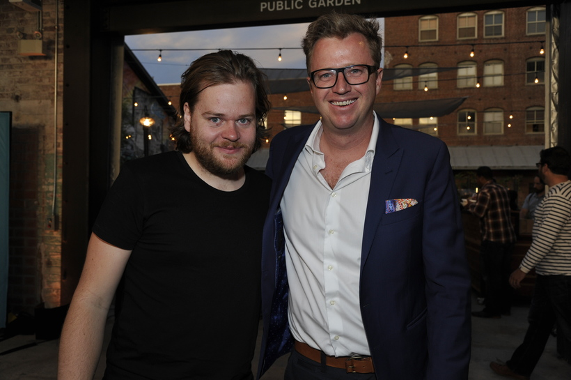 Chef Magnus Nilsson with Angus Dillon