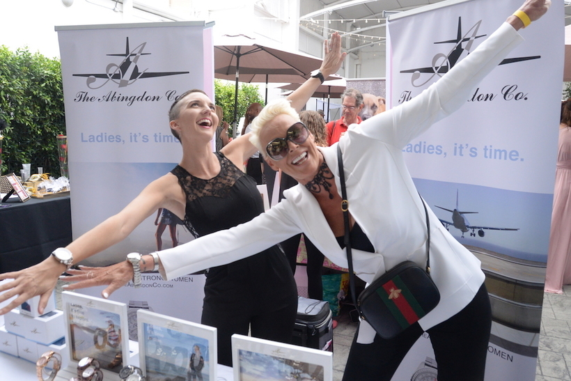 "Brigitte Nielson (""Beverly Hills Cop II & ""Red Sonja"") with Abingdon Timepieces"
