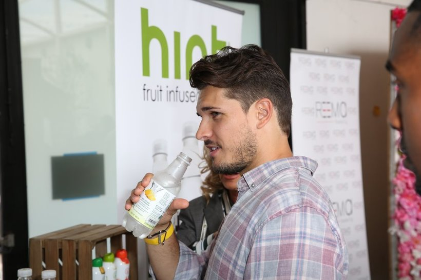 "Gleb Savchenko (""Dancing With the Stars"") with Hint Water"