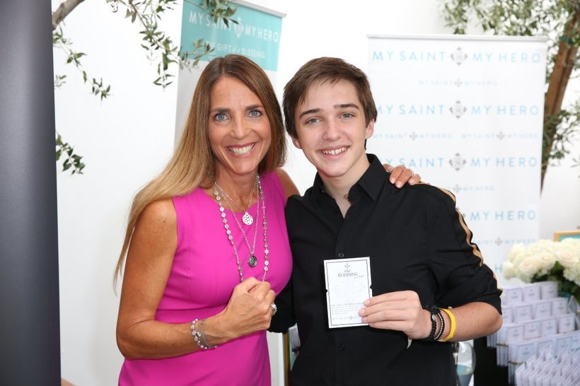 "Michael Campion, Star of ""Fuller House"" with My Saint, My Hero Blessing Bracelets"