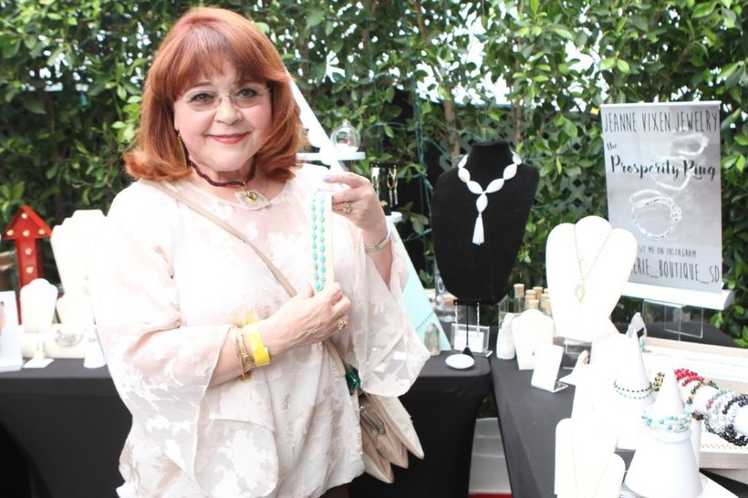 "Patrika Darbo, 2016 Emmy Winner - Best Actress, ""Acting Dead"" with Jeanne Vixen Jewelry"