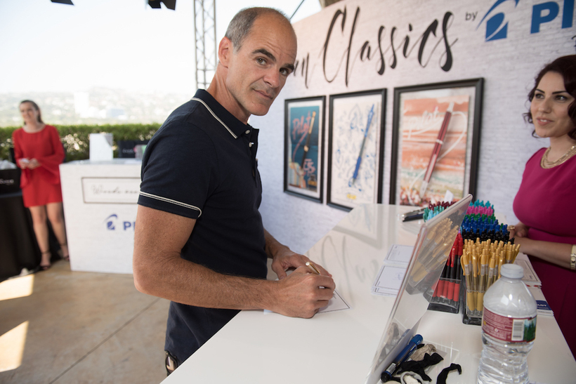 House of Cards star and Emmy nominee Michael Kelly visited the Pilot Pen & GBK Pre-Emmys Award Celebrity Gift Lounge.