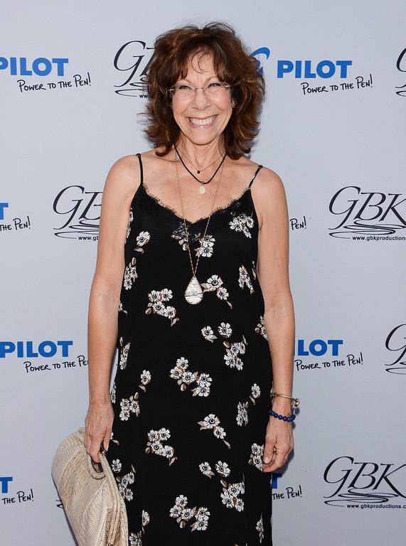 Lily Tomlin visited the Pilot Pen & GBK Pre-Emmys Award Celebrity Gift Lounge