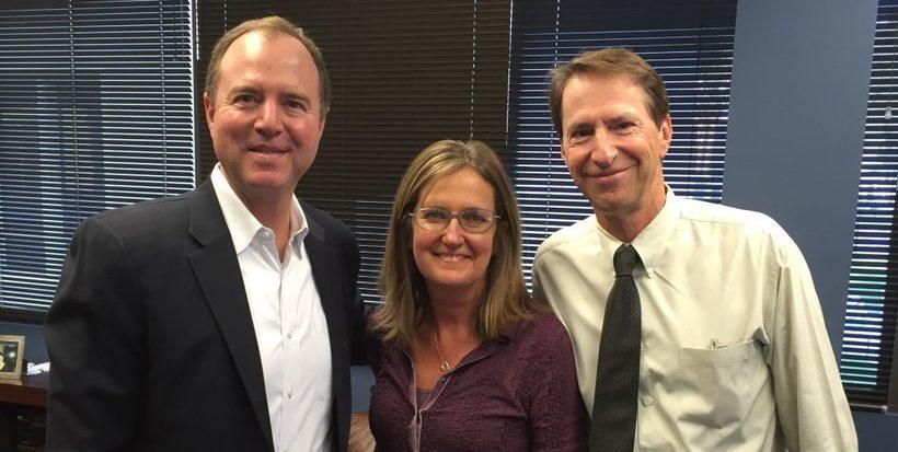 Congressman Adam Schiff with Kerry and Jeff Witzeman