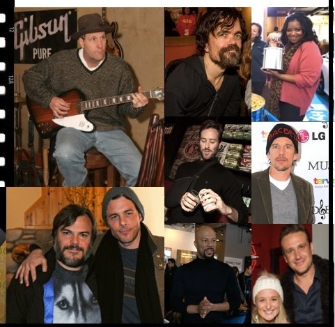 Celebrities attend Music Lodge