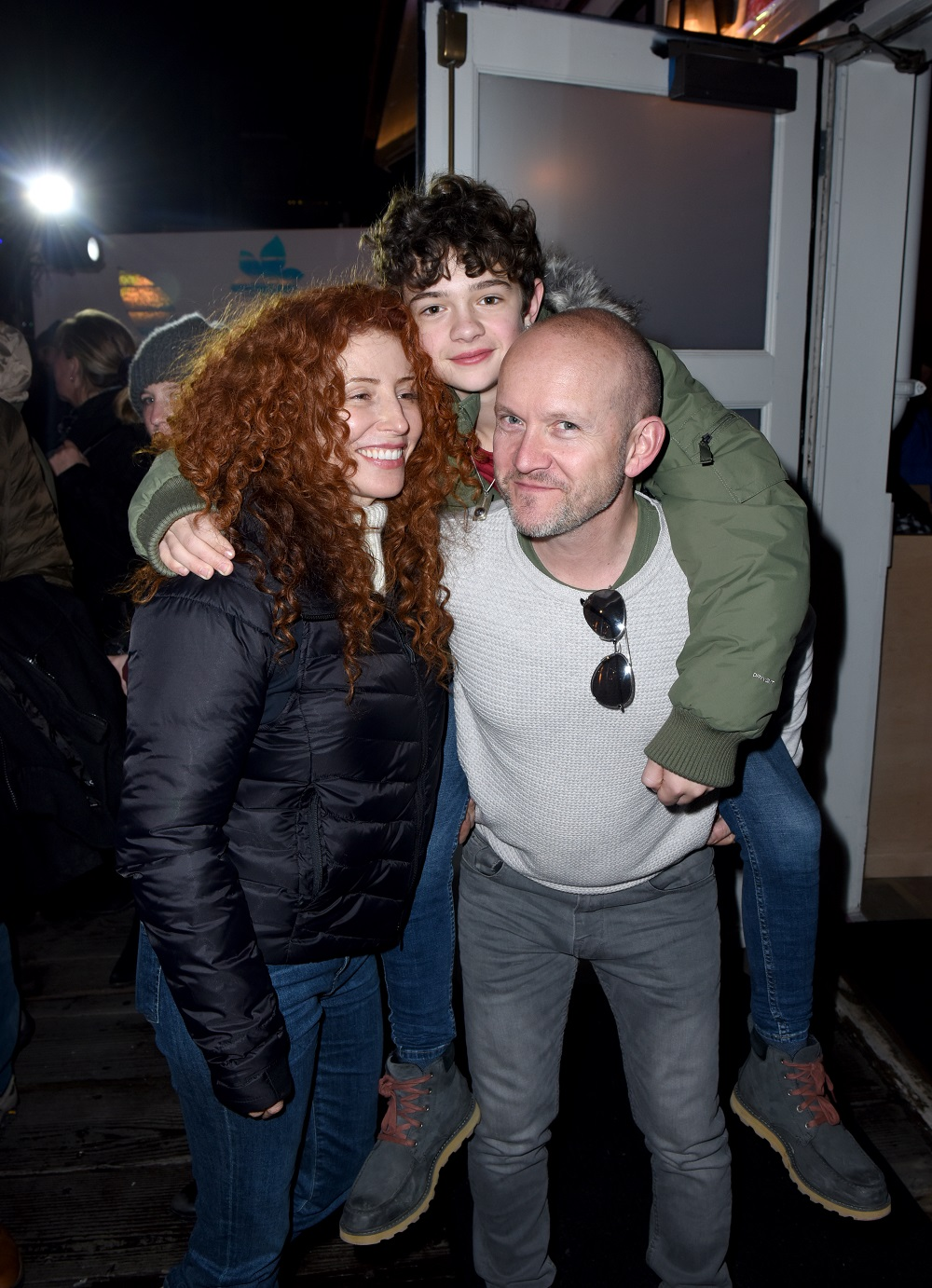 (L-R) Alma Ha'rel, Noah Jupe, and Chris Jupe