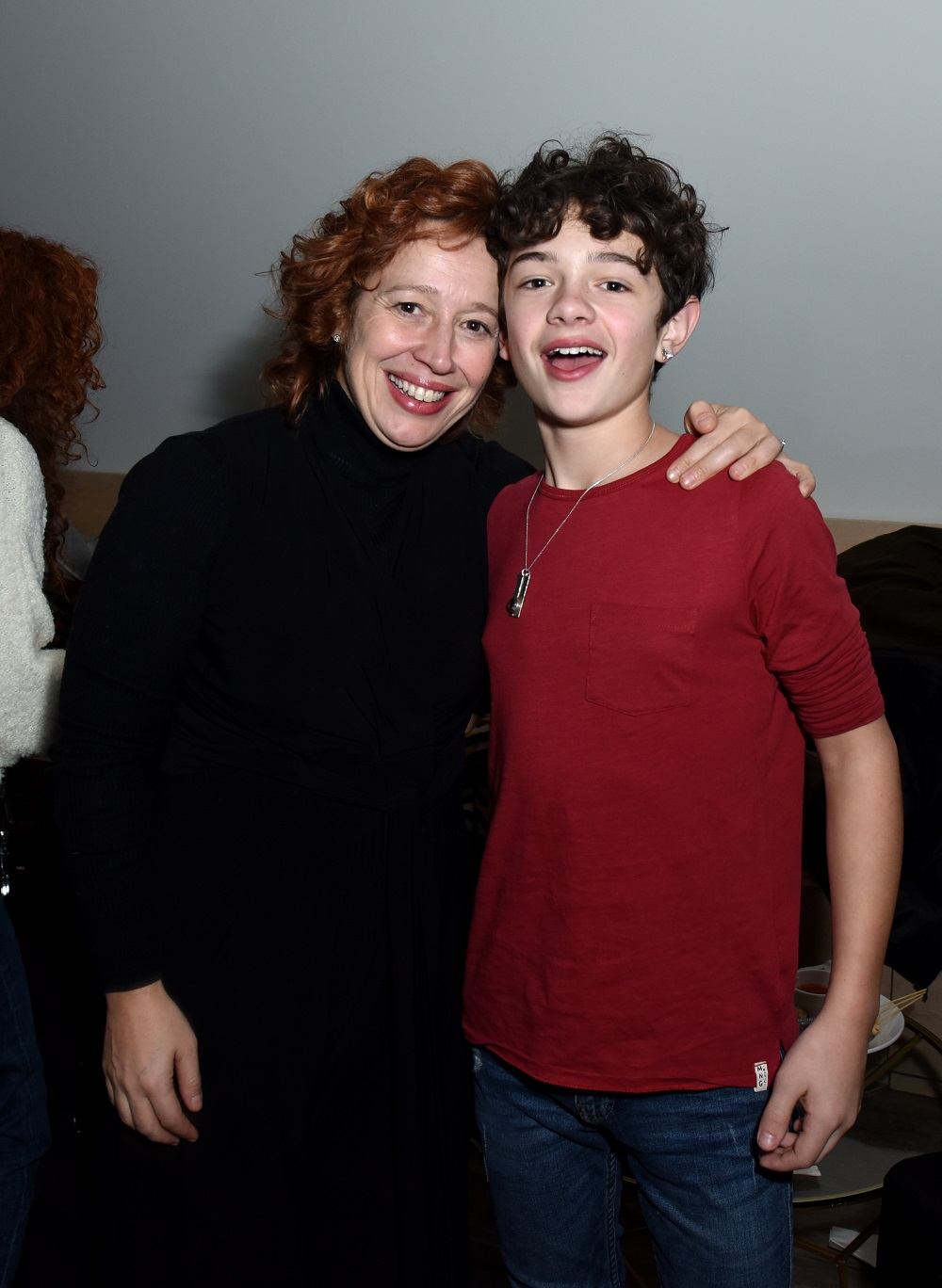 Katy Cavanagh (L) and Noah Jupe