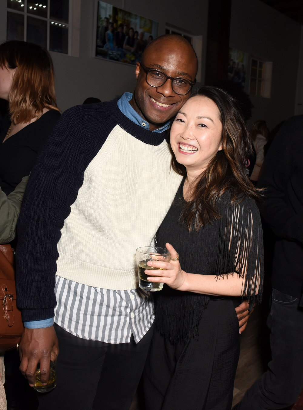 Barry Jenkins (L) and Lulu Wang
