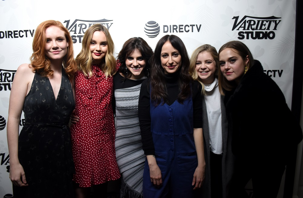 (L-R) Madisen Beaty, Liana Liberato, Kara Hayward, Martha Stephens, Lauren Ashley Stephenson, and Sophia Bairley