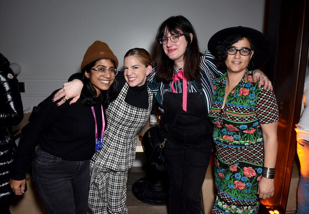 (L-R) Minhal Baig, Anna Chlumsky, Mandy Hoffman, and Yamit Shimonovitz