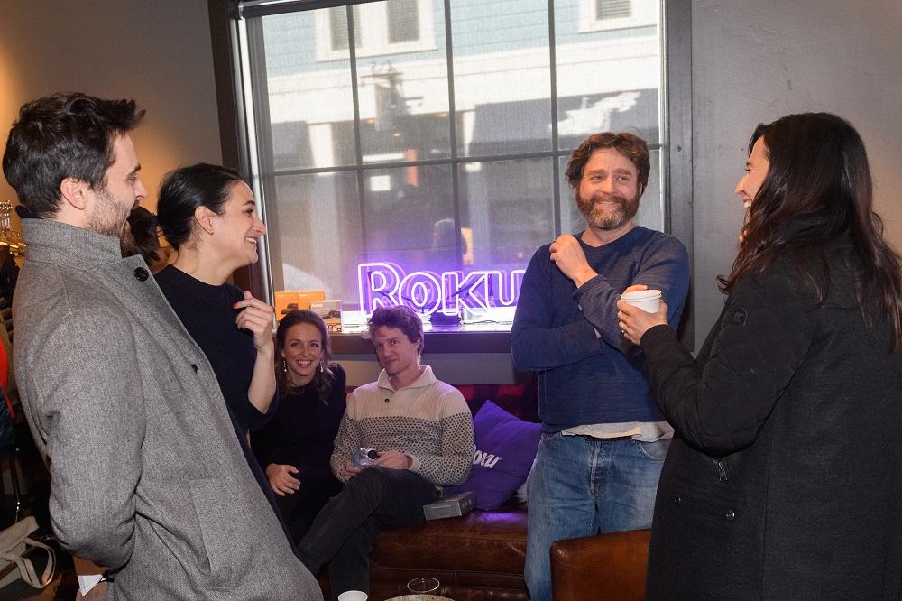 Jenny Slate, Zach Galifianakis and Michaela Watkins