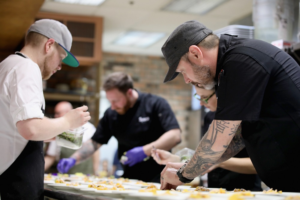 Chef Shaun O'Neale cooks
