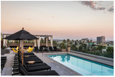 The 5th-floor pool with spectacular views - Kimpton Everly
