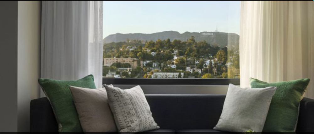 Suite at the Kimpton Everly overlooking the Hollywood Sign