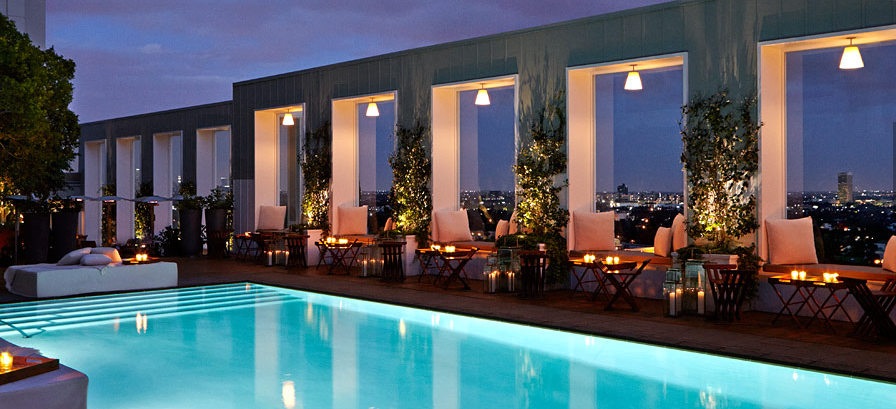 The pool at Mondrian Los Angeles