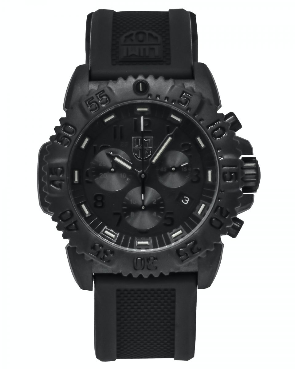 Luminox Navy Seal Colormark Blackout Dial Chronograph Quartz Men's Watch