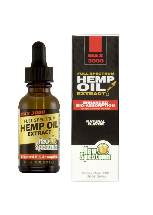 New Spectrum Labs' Maz 3000 mg Hemp Oil